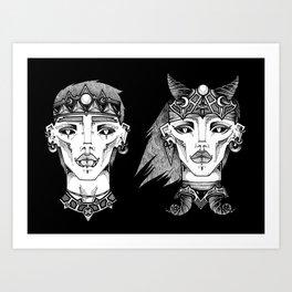 Ickus & Oblina  Art Print