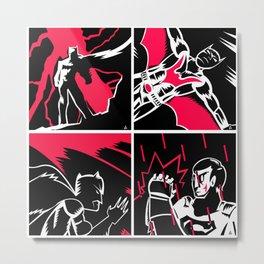 All Star frame Bat-man  Metal Print