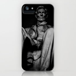 Lincoln Memorial BW iPhone Case