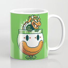 Pixelated Super Mario World - Bowser Koopa Clown Car Coffee Mug