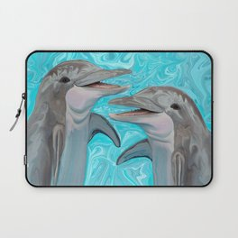 Dolphin Chatter Laptop Sleeve