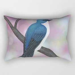tree swallow and pink bokeh Rectangular Pillow