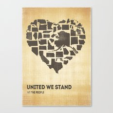 United we stand - Vintage  Canvas Print