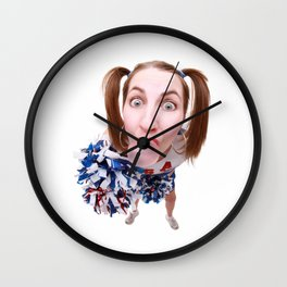 Cheerleader Wall Clock