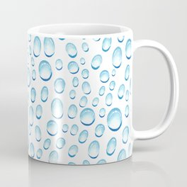 Bright blue white water drops pattern Coffee Mug