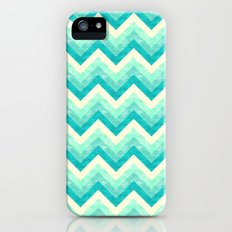 Chevron - Mint Slim Case iPhone (5, 5s)