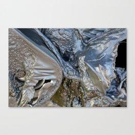 black plastic melts Canvas Print