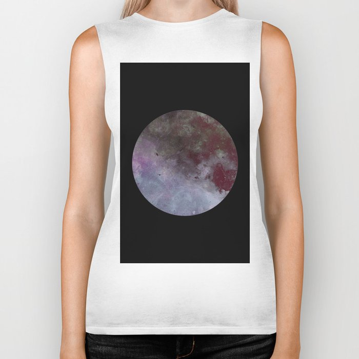 Lonely planet - Space themed geometric painting Biker Tank