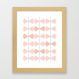Pretty Bows All In A Row Framed Art Print