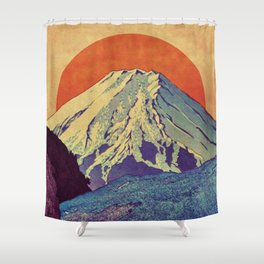 The Red Sunrise at Dayai Shore Shower Curtain