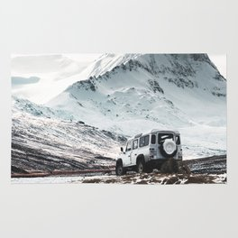 on the road in iceland Rug