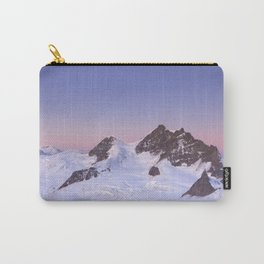 Dawn at the Jungfrau peak from Jungfraujoch in Switzerland Carry-All Pouch