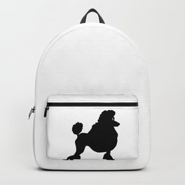 Poodle Dog Breed black Silhouette Backpack