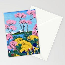 Mt,FUJI36view-Tokaido shinagawa goten mounten fuji view - Katsushika Hokusai Stationery Cards
