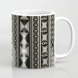 Boho Mud cloth (Black and White) Coffee Mug