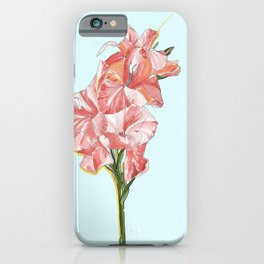 Floral Orchestra #01 [Gladiolus] iPhone Case