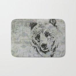 Gray Bear Bath Mat