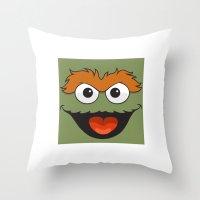 sesame street Throw Pillows featuring Sesame Street  by Jconner