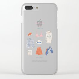 Parisian Chic: Starter Pack Clear iPhone Case