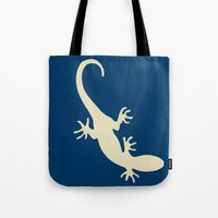 lizard Tote Bags featuring Lizard by Abundance