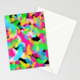 Retro Colorful Feather Stationery Cards