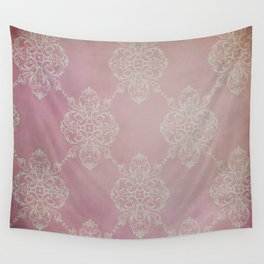 Vintage Damask - Cherry Wall Tapestry