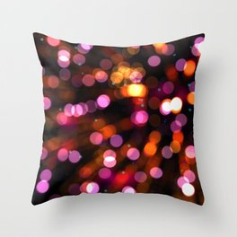Fireworks Pink (Color) Throw Pillow