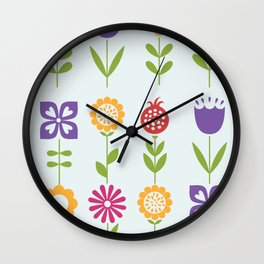Spring Refresh Florals Wall Clock