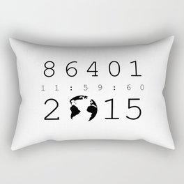 86401 Leap Second 2015 Rectangular Pillow