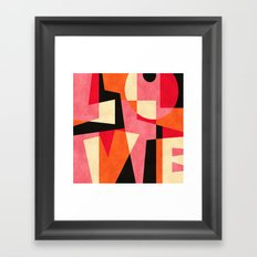 L_O_V_E Framed Art Print