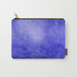 Neon Blue Metallic Foil Carry-All Pouch