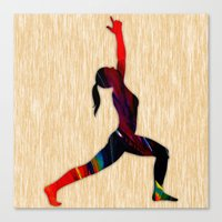fitness Canvas Prints featuring Fitness by marvinblaine