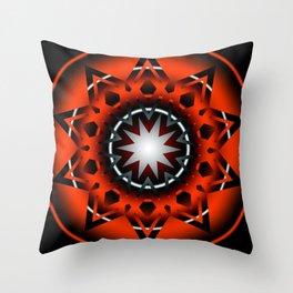 Ornament Start 3D Red Throw Pillow