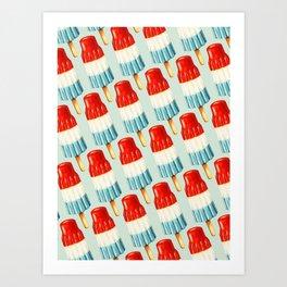 USA 4th of July Popsicle Pattern Art Print