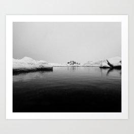 Iceland Black And White #society6 #home #decor Art Print