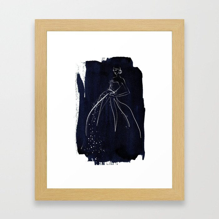 BLUE no. I Framed Art Print