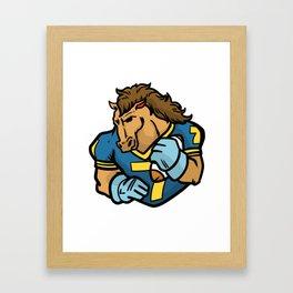 Football American Gift Kickoff Quarterback Framed Art Print
