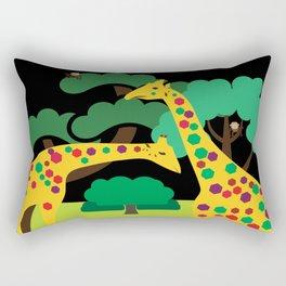 colored giraffes Rectangular Pillow