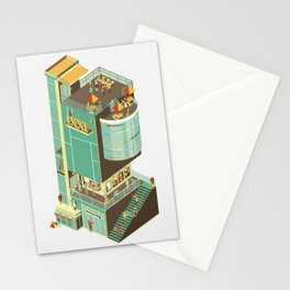 Isometric IXXI Cinema Building Stationery Cards