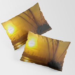 Fireboat at Sunset Pillow Sham