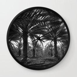 Date palms. Coachella Valley, California Wall Clock