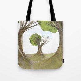 Duality Tree Tote Bag
