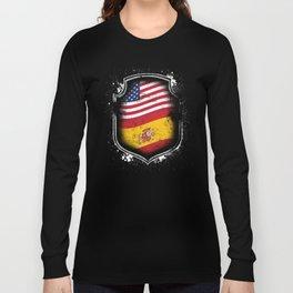 Spanish American Flag Long Sleeve T-shirt