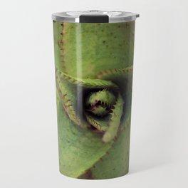 Succulent cactus close-up - Aloe Photography #Society6 Travel Mug