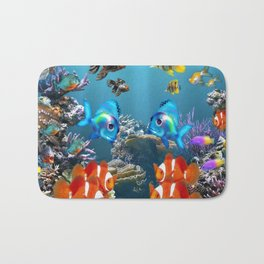 Aquarium Sealife Fish Bath Mat