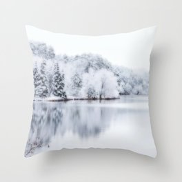 White Wonder Reflection Throw Pillow