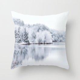 White Wonder Reflection Throw Pillow
