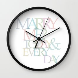 TRAIN- MARRY ME... Wall Clock