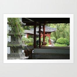 Chinese Gardens Art Print
