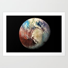 Planet Pluto Deep Space Space Craft Pass By Telescopic Photograph Art Print